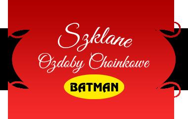 Batman - szklane ozdoby choinkowe